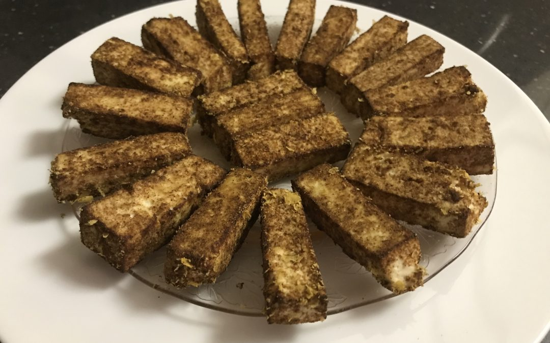 """Cheesy"" Baked Tofu – Vegan"
